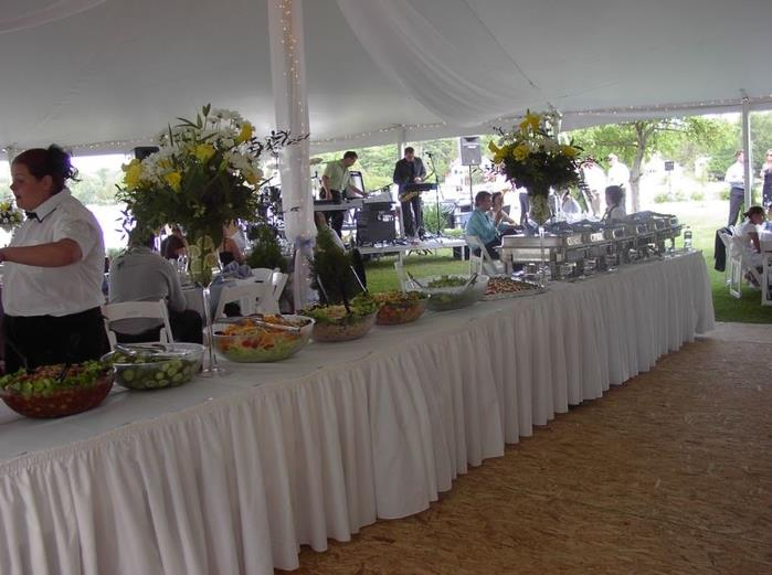 Wedding party tent rental and catering service